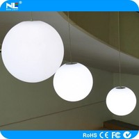 PE material home decoration color changing hang up light / ceiling light ball / led tree light made in China