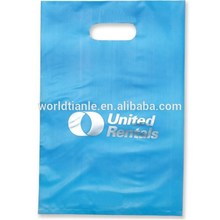 Size 33x35 cm best popular in Sweden market plastic die-cut shopping bags at low price