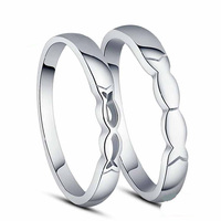 Romantic Kissing Fish 100% Sterling Silver Jewelry Lovers Ring Silver Ring Top Quality! Christmas Gift