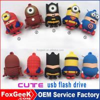 Computer Networking USB Flash Drive 1GB 2GB 4GB 8GB 16GBusb flash drive bulk Cartoon Superman spiderman