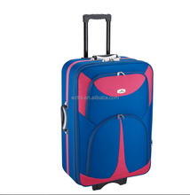 BS805 new design shangdong silk polyester trolley bag outside trolley case travel bags