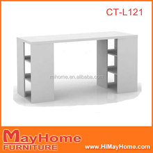 Modern white writing desk,study desk,office desk in office