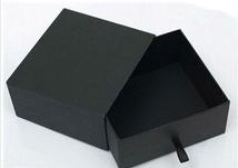 Custom luxury black decorative cardboard drawer box packaging gift box