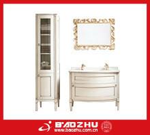 Modular bathroom vanity(BZ74) Classic hotel style curved bathroom furniture