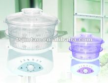 2 tiers plastic digital food steamer steam cooker with keep warm function