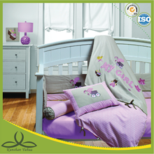 girl baby oral printing baby crib bedding set