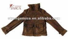 2012 women's winter custom suede leather jackets