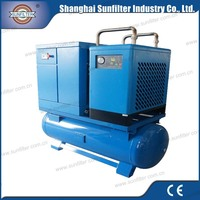 Combined Screw Air Compressor for food freeze dryer