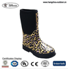 Classic Winter Leopard Print Mid Girls Insulated Boots