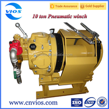 Wire rope pulling winch cable pulling equipment with double brake system