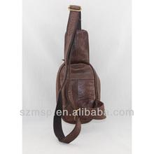 vintage cowhide leather sling bag, hot fashion cross sling bag