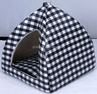 Foldable cat house/dog beds with mat