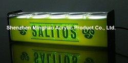 Acrylic bar bottle display with led, light wine glass rack