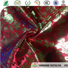 Multicolor supply polyester and rayon fabric with foil for Fashionable