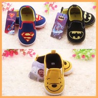 New arriva canvas baby shoes, superman kids shoes,toddler shoes with cute animal