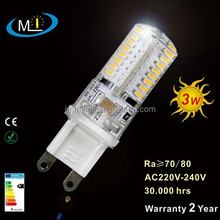 G9 led bulb, led light, led lamp AC220-240V 3W SMD3014 64