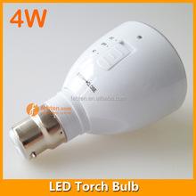 Rechargeable LED Flashlight E27 B22 LED Emergency Light 4W Emergency LED Bulb
