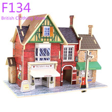 DIY world style 3D wooden toy house