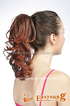 Best-sale synthetic small red claw clip in ponytail hair pieces