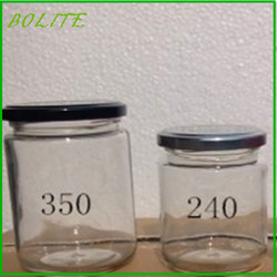 240ml 350ml for honey glass jars wholesale with tin cap