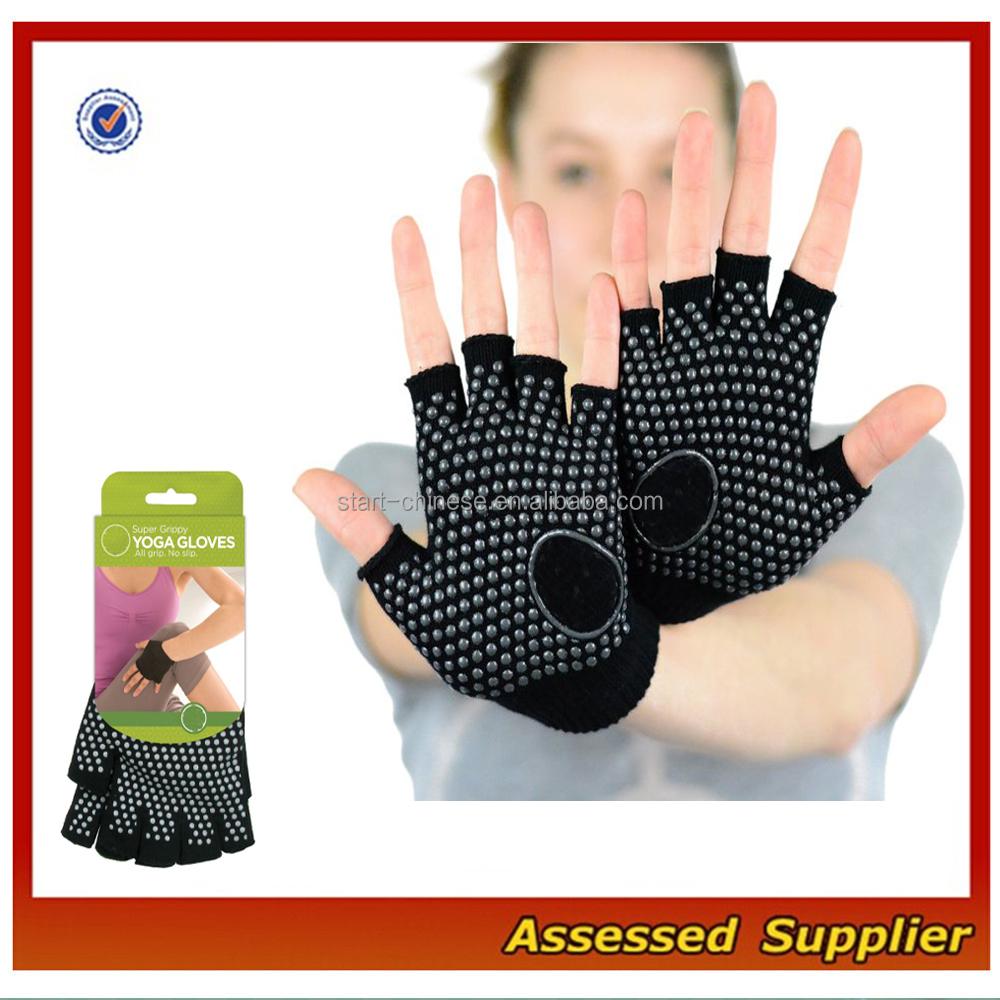 Yoga Shoes For Arthritis: Custom Women Anti Slip Fingerless Yoga Gloves/fingerless