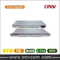 ShenZhen ONV best quality and low price product 16 Channel Video Fiber Optic Transmitter and Receiver