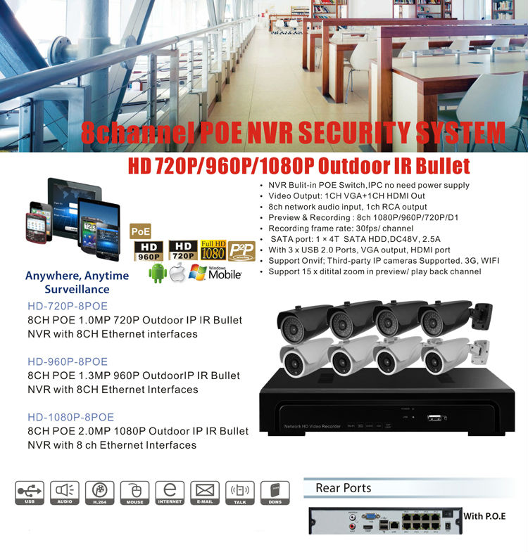 Hikvision Security Camera Systems Security Camera System P2p