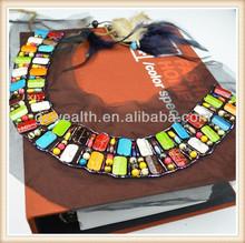 Fresco estilo de trajes de indio diseños de cuello con la red de negro para el diseño ladies'