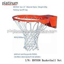 "Basketball net(Nylon, 12 hook,8 knot,21"" length)"