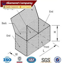 BV certificate heavy galvanized gabion basket price / hexagonal gabion wire mesh / galvanized gabion basket price