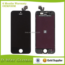Mobile Phone Repair Parts LCD Touch Screen Digitizer Assembly Complete For Apple iPhone 5 5G For Iphone5