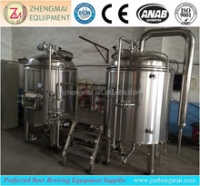 1000L beer per day restaurat DIY draft beer brwing machine / stainless steel beer brewing machine