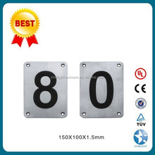 Metal Silver Metallic Sign Plates with icon
