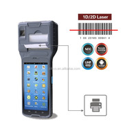 handheld android pos printer with wifi, 3G, fingerprint, 1D/2D barcode scanner