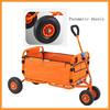 Hot selling 4 pneumatic wheels folding shopping trolley