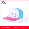 New Fashion OEM Adjustable Flat Brim Custom Rivets Baseball Cap Cheap Plain Snap Back Hats With Adjustable Back Strap