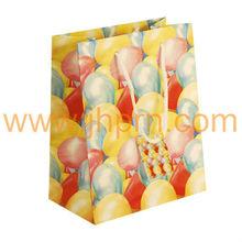Gloss balloons print paper gift bag supplier
