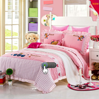 Cartoon King Size Cotton embroidery 3D Bedding Set