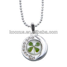 Promotion lucky four leaf clover necklace from China direct factory