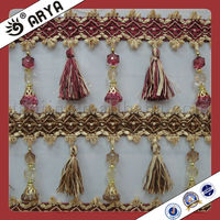 Cheap Curtain Tassel Fringe,Decorative Trimming Fringe used for curtain accessories for home decoration