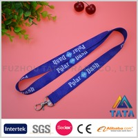 TATA Smooth Polyester Heat Transfer Lanyard With Plastic Pouch