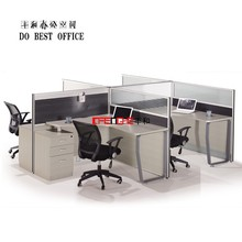 Aluminum Frame Modular Office Partition Movable For 4 People WL8301