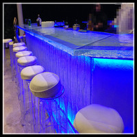 solid surface translucent bar countertop
