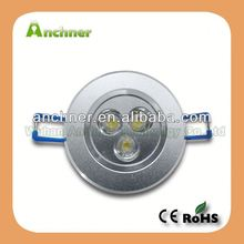 High lumin CE ROHS 3w party ceiling led