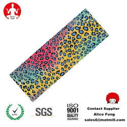best quality natural rubber yoga mat covered with polyurethane