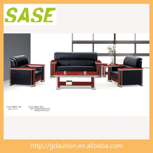 Fatory Develop Wood and Leather Sofa for Project