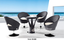 Cheap rattan cafe table and chairs (DH-800)