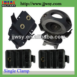 Airsoft SWAT Tactical Gear Flashlight Single Clamp & Surefire X300 Adapter for Helmet Rail