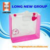 E fire cometic clear pvc plastic bag with snap button