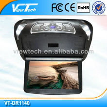 11.4 inch innovative flip fown roof dvd with 2 extra colors changeable casing